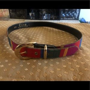 Cute Rainbow Colorful Belt Elite California